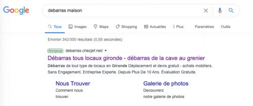 5- Référencement sur Google 6- Présence en haut de la 1ere page Google